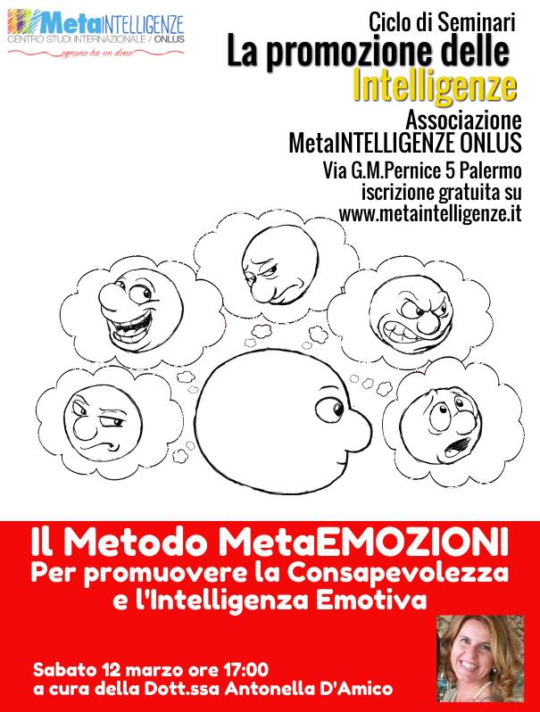 Seminario il Metodo MetaEmozioni