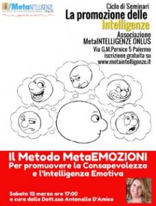 Seminario – Il Metodo MetaEMOZIONI