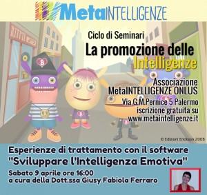 """Seminario – Esperienze di trattamento con il software """"Sviluppare l'Intelligenza Emotiva"""""""