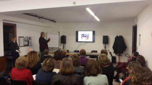 Angelo Spataro della Fimp presenta il convegno Nati Per Contare