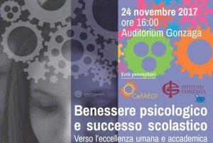 """Conferenza sul """"Benessere psicologico e successo scolastico"""""""