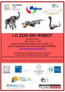 """Lo Zoo dei Robot – 22 Aprile, museo di zoologia """"Doderlein"""""""