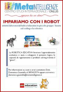 Attività di robotica educativa attive presso il nostro centro